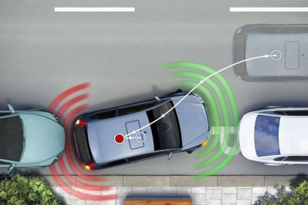 Работа парковочных радаров на Тойота Камри