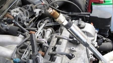 Замена свечей на старых моторах Тойота Камри