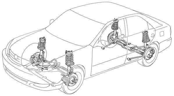 Схема подвески на Тойоте Камри пятого поколения