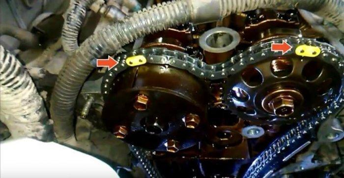 Сборка двигателя и грм на Тойоте Камри