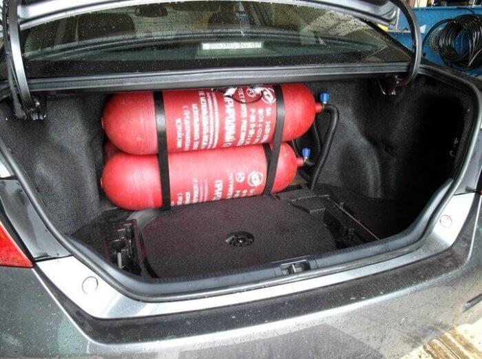 Установка ГБО метан на Toyota Camry