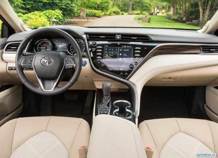 Интерьер Тойоты Камри V70 2018 года