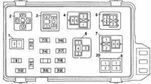 Рис.1 Схема панели (под капотом)