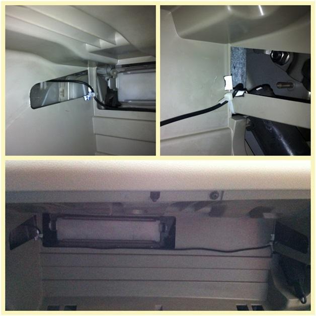 Прокладка проводки под камеру
